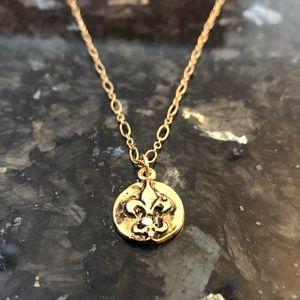 Rachel Abroms Mad Coin Fleur de Lis Necklace